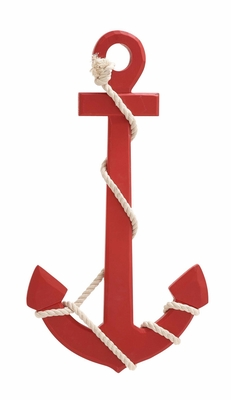 Attractive Styled Wood Rope Wall Anchor by Woodland Import