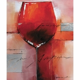 Attractive Stylized Beautiful Red Merlot Artwork by Yosemite Home Decor