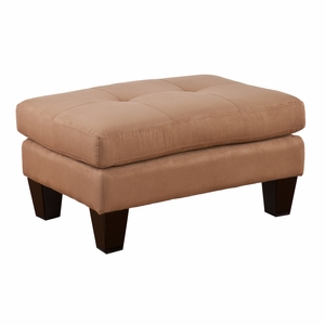 Attractive Stylized Carlton Ottoman Mocha by Southern Enterprises