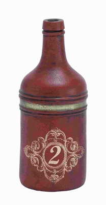 Attractive Terracotta Bottle Vase with with A Rich Finish Texture Brand Woodland