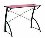 Attractive Trace Reversible Desk in Pink and Black Top by Office Star