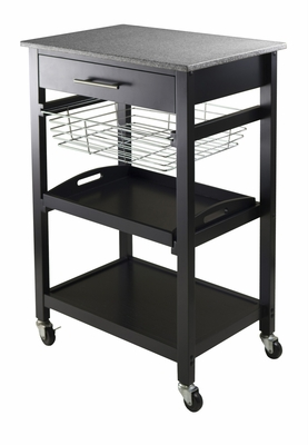 Attractive Unique Styled Julia Utility Cart by Winsome Woods