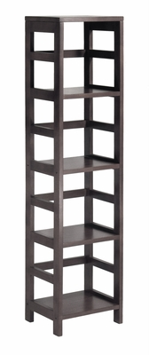 Attractive Unique Styled Leo 4-Tier Shelf by Winsome Woods