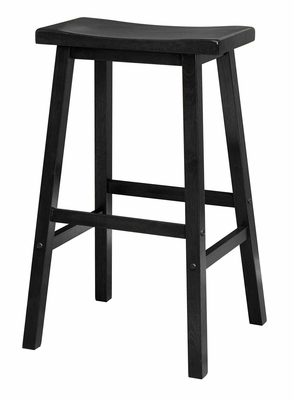 Attractive Unique Styled Saddle Seat Black Stool Single by Winsome Woods