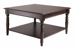 Attractive Unique Styled Whitman Square Coffee Table by Winsome Woods