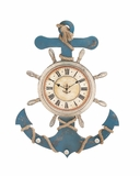 Attractive Unique Styled Wood Anchor Clock by Woodland Import
