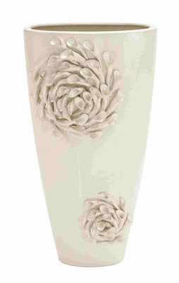 Intricately Stylish Open Neck Ceramic Vase - 62154 by Benzara