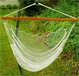 Attractively Crafted Hanging Nylon Net Chair by Alogma