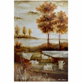Attractively Painted Countryside I Painting by Yosemite Home Decor
