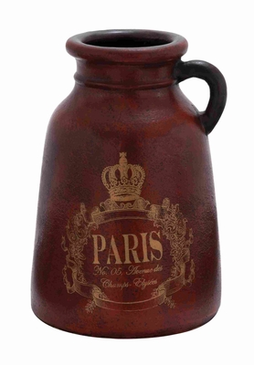 Attractively Painted Terracotta Contemporary Jug in Brown Brand Woodland