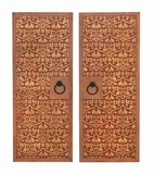 Attractively Painted Wooden Wall Panel for Modern Decor Set of 2 Brand Woodland