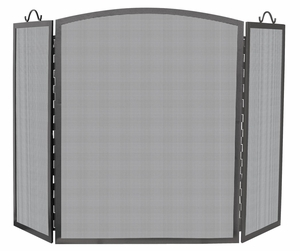 Attractively Styled 3 Panel Olde World Iron Arch Top Screen-Large
