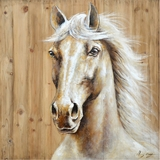 Attractively Styled Equine Profile I Classy Painting by Yosemite Home Decor