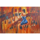 Attractively Styled Evening out I Classy Painting by Yosemite Home Decor