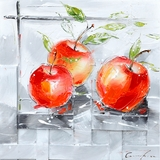 Attractively Styled Fresh Apples I Classy Painting by Yosemite Home Decor