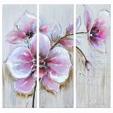 Attractively Styled Silvery Pink Classy Painting by Yosemite Home Decor