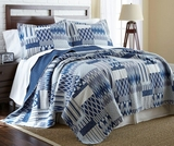 Aubrey Full/Queen Size Three Piece Reversible Quilt Set (100% cotton)