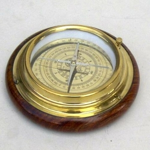 Augsburg Desktop Compass With Authentic Wooden Base Brand IOTC