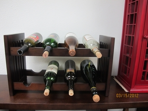 Augsburg Old Country Wine Rack, Antiqued Wonderful Stand by D-Art