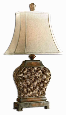 Augustine Iron Table Lamp with Rust Distressing Brand Uttermost
