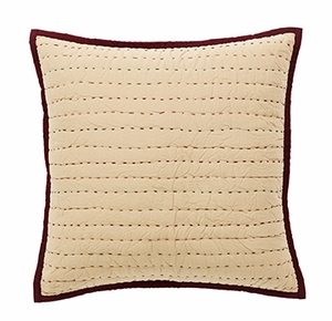 "Autumn Kaleidoscope Quilted Pillow 16x16"" VHC Brand - 12297 Brand VHC"