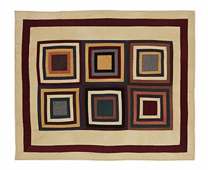 "Autumn Kaleidoscope Quilted Throw 50x60"" VHC Brand - 12299 Brand VHC"
