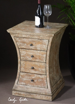 Avarona Accent Chestith With Four French Dovetail Drawers Brand Uttermost
