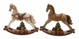 Awesome Rocking Horse Statues 2 Assorted Holiday Decor