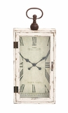 Awestruck Smart Styled Wood Metal Wall Clock by Woodland Import