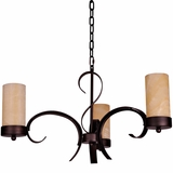 Azalea Collection Elegant 3 Light Island Light series in Dark Burgundy by Yosemite Home Decor