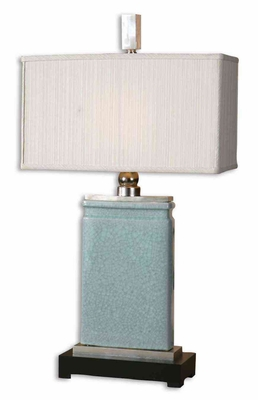 Azure Light Blue Table Lamp with Nickel Plated Accents Brand Uttermost