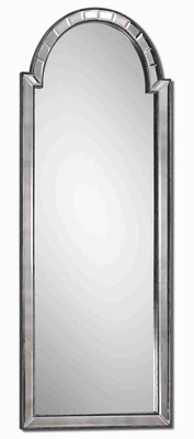 Bacavi Arched Wall Mirror with Burnished Silver Side Mirrors Brand Uttermost