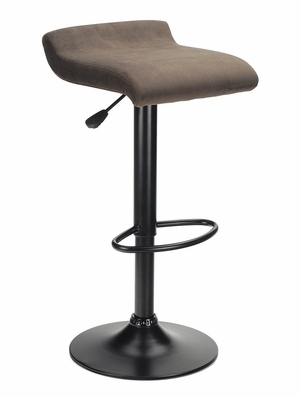 Backless Marni Swivel Seat Airlift Stool with Chrome Base by Winsome Woods