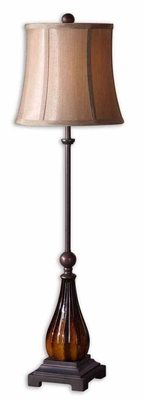Badia Buffet Lamp Crafted with Bronze Detailing Brand Uttermost