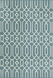 "BAJA0BAJ-3BLU-BAJA COLLECTION 1'-8"" X 3'-7"" by Momani Rugs"