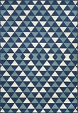 "BAJA0BAJ-5BLU-BAJA COLLECTION 1'-8"" X 3'-7"" by Momani Rugs"