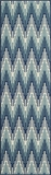"BAJA0BAJ-6BLU-BAJA COLLECTION 2'-3"" x 7'-6"" Runner by Momani Rugs"