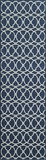 "BAJA0BAJ11NVY-BAJA COLLECTION 2'-3"" x 7'-6"" Runner by Momani Rugs"