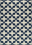 "BAJA0BAJ12NVY-BAJA COLLECTION 1'-8"" X 3'-7"" by Momani Rugs"