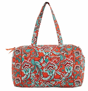 Balla Taylor Printed Design Duffle Bag with Double Shoulder Strap Bali Bright Brand Bella Taylor