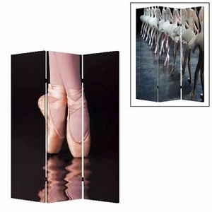 Ballet 3 Panel Screen Crafted with Artistic Design on Canvas Brand Screen Gem