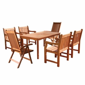 Balthazar Rectangular Table & Armchair Outdoor Dining Set by Vifah