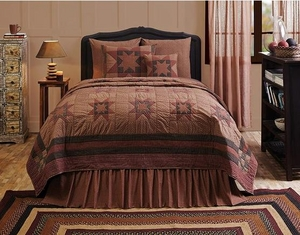 Bancroft Super King Quilt with Classic Ohio Stars Prints Brand VHC