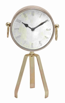 Barcelona Antiqued Tripod Table Clock Brand Benzara
