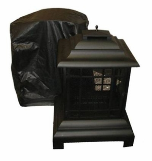Bari Patio Fireplace Vinyl Cover, Heavy-duty And Shining Heating Accessory by Well Travel Living