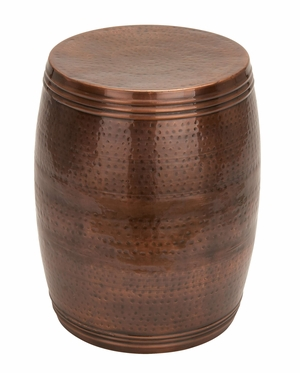 Barrel Shaped Bronze Stool For Long Hours Comfortable Sitting Brand Woodland