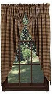 "Barrington Prairie Curtain Lined Set of 2-63x36x18"" VHC Brand - 12328 Brand VHC"