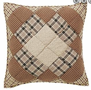 "Barrington Quilted Pillow 16x16"" VHC Brand - 12335 Brand VHC"