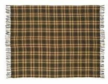 "Barrington Woven Throw Green Plaid 50x60"" VHC Brand - 12349 Brand VHC"
