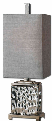 Bashan Metal Lamp with Nickel Plated Detailing Brand Uttermost